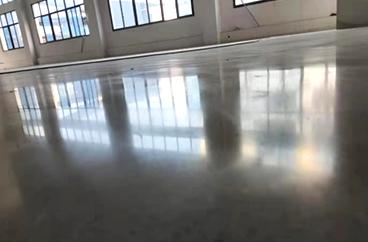 绵阳积家工业园区固化地坪成品图